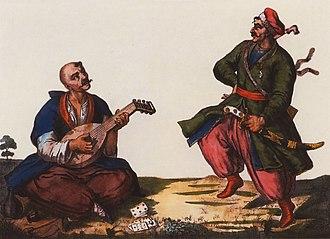 Kobza - Cossack with a kobza