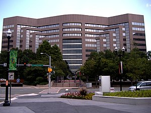 Crystal City, Arlington, Virginia - Crystal Park Four, former US Airways headquarters in July 2009.