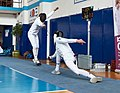 2nd Leonidas Pirgos Fencing Tournament. Foot touch for the fencer on the right.jpg