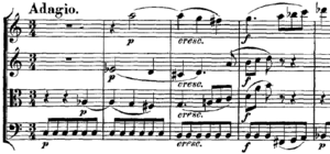 English: sheet music