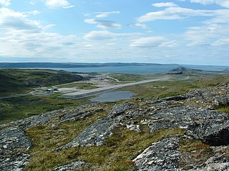 Kangiqsualujjuaq (Georges River) Airport - The runway at Kangiqsualujjuaq Airport