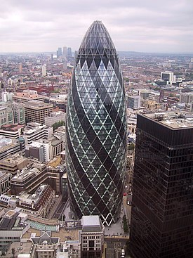 Interesting Architecture  ancient and modern 275px-30_St_Mary_Axe%2C_'Gherkin'