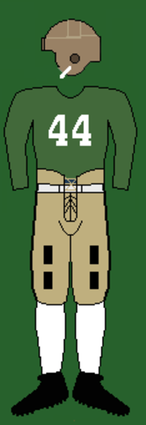 1930 Tulane Green Wave football team - Image: 30stulaneuniform