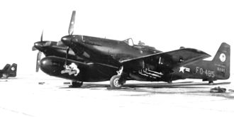 319th Fighter Interceptor Training Squadron - Image: 319th FAWS North American F 82F Twin Mustang 46 485
