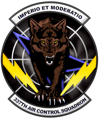 337th Air Control Squadron - Image: 337 Air Control Sq emblem