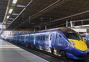 British Rail Class 395 - Southeastern High Speed Class 395 No. 395018 at St Pancras International