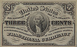 Obsolete denominations of United States currency - Image: 3cf big
