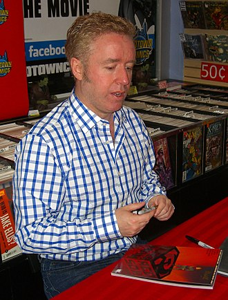 Mark Millar - Millar signing a copy of Superman: Red Son