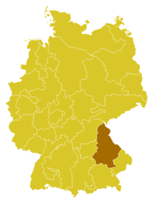 Roman Catholic Diocese of Regensburg - Image: 464px Karte Bistum Regensburg