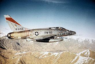 522d Special Operations Squadron - 522d TFS F-100D Super Sabre - 56-3150 about 1960