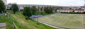 Arcueil - the 3rd Arcueil aqueduct, completed in 1900, and still supplying 145 000 m3 a day to Paris.