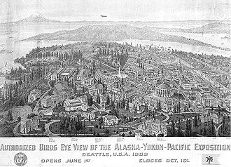 Bird's-eye view - Image: A Y P Exposition bird's eye view postcard
