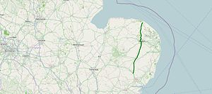 A140 road - Image: A140 road map