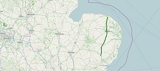 A140 road - Image: A140 road map