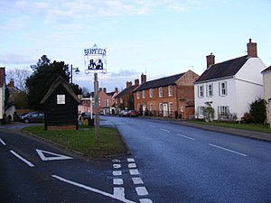 A144 road - The A144 at Bramfield