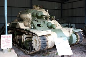 Sentinel tank - The AC1 Sentinel tank at the RAAC Tank Museum.