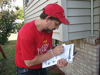 Canvassing - An AFL-CIO canvasser in the 2008 American election