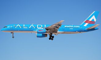 Aladia Airlines - An Aladia Boeing 757; note the livery bears similarities to that of parent company, TUIfly.