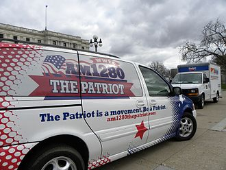 WWTC - Vehicle at a Tea Party Express rally in 2010