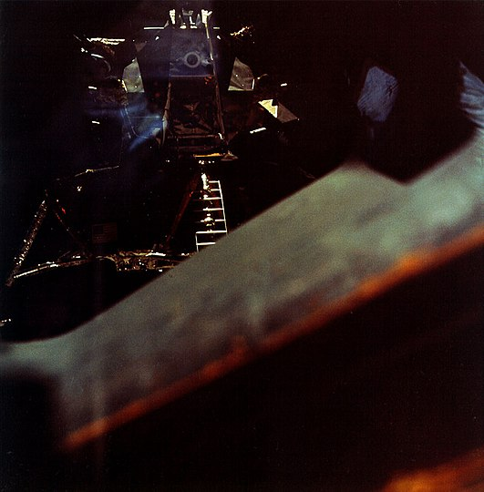 Lunar Module Snoopy during post-undocking inspection