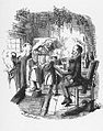 A Christmas Carol, Scrooge and Bob Cratchit after Scrooge's redemption, by John Leech.jpg