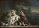 A Man Trying to embrace a Woman (Carel de Moor) - Nationalmuseum - 18103.tif