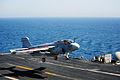 A Prowler lands aboard USS George H.W. Bush..jpg