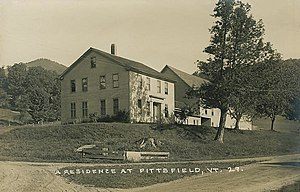 Pittsfield, Vermont - A Pittsfield farmhouse c. 1915