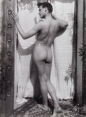 A Sicilian boy, posing naked outdoors, by a door Wellcome L0034525.jpg