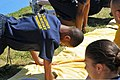 A U.S. Navy junior ROTC cadet born with a birth defect with his right arm performs push-ups during the 2010 Navy Junior ROTC Nationals Academic, Athletic and Drill Competition at Naval Air Station Pensacola 100410-N-IK959-152.jpg