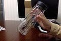 A Wikipedia logo printed bottle.jpg