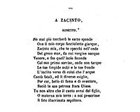 A Zacinto cover