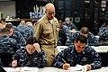 A chief monitors an advancement exam. (8408578756).jpg