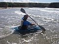A kayaker paddling out through the surf - geograph.org.uk - 225567.jpg