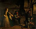 A lady visiting an alchemist's laboratory (?). Oil painting Wellcome V0017692.jpg