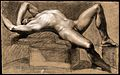 A reclining male nude with his left arm shielding his eyes. Wellcome V0048976.jpg