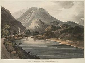 Beddgelert - A view of Beddgelert, 1814