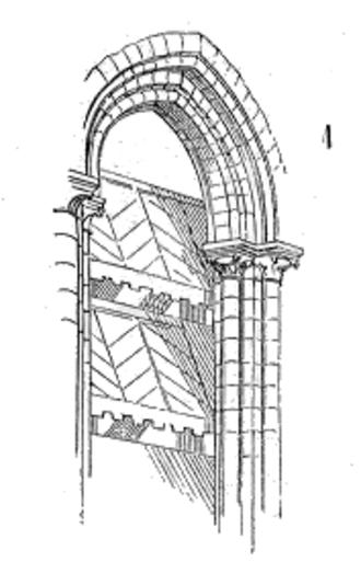 Abat-son - Illustration of an abat-son