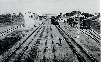 Abiko Station (Chiba) - Abiko Station ca. 1905
