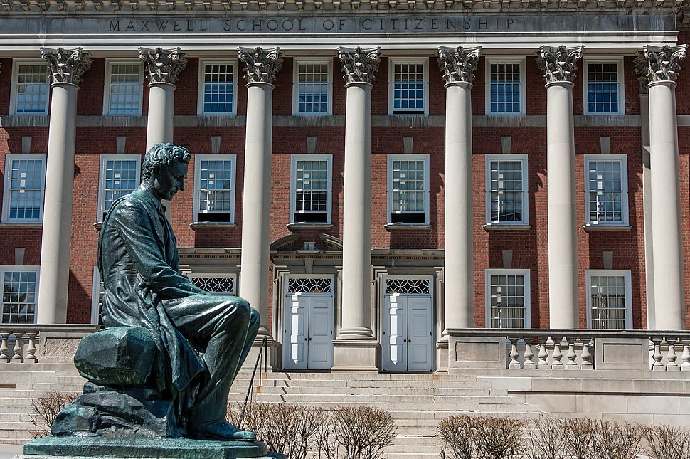 Abraham Lincoln Statue and Maxwell School, Syracuse University, 2012