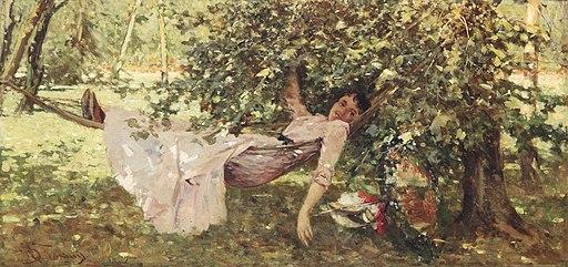 Achille Formis Befani Junge Frau im Schatten