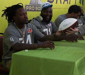 Adam Jones (American football) - Jones (left) at the 2016 Pro Bowl.