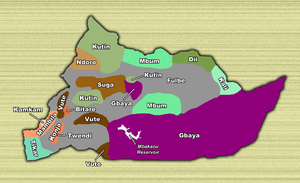 Adamawa Region - Territories of ethnic groups of the Adamawa Province