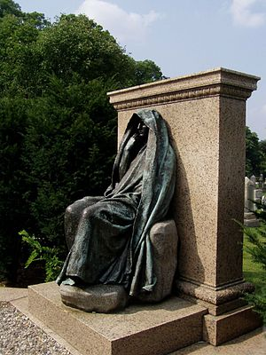 Petworth, Washington, D.C. - Adams Memorial by Augustus Saint-Gaudens, Rock Creek Church Yard and Cemetery