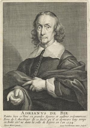 Adriaen de Bie - Portrait of Adriaen de Bie by Lucas Vorsterman II after painting by Pieter Meert