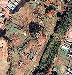 Aerial photo of Raijin-yama kofun tumulus in 1975.jpg