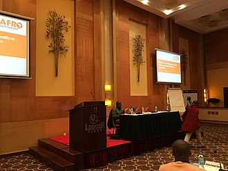 Afrobarometer - Afrobarometer executive director, Prof E Gyimah-Boadi speaking at a conference in November 2017 in Tanzania.