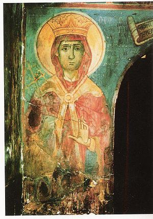 Theodora of Arta - Fresco of Saint Theodora of Arta