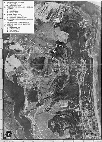 Peenemünde Airfield - April 1943 photo reconnaissance image of Usedom island, with airfield at upper left.