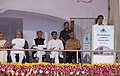 Ajit Singh addressing at the foundation stone laying ceremony for the development of the Kishangarh Airport, in Ajmer, Rajasthan. The Prime Minister, Dr. Manmohan Singh, the Governor of Rajasthan, Smt. Margaret Alva.jpg
